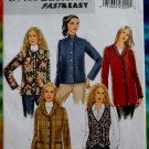 Butterick Pattern #5400 UNCUT Misses Jacket Vest Collar Variations Size 16 18 20 22 24
