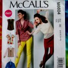 McCalls Pattern # 6604 UNCUT Misses Top Variations Size 6 8 10 12 14