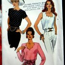 Vogue Pattern # 8574 UNCUT Misses Top Sleeve Variations Size 12 14 16