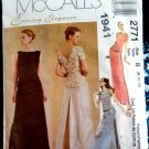 McCalls Pattern # 2771 UNCUT Misses Special Occasion Long Skirt Top Size 8 10 12