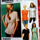 Butterick Pattern # 5890 UNCUT Misses Blouse Sleeve Collar Variations Size 14 16 18 20 22
