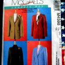 McCalls Pattern # 4598 UNCUT Misses Lined Jacket Size 12 14 16 18