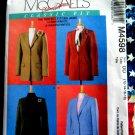 McCalls Pattern # 4598 UNCUT Misses Lined Jacket Size 12 14 16 18
