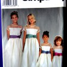 Simplicity Pattern # 5700 UNCUT Girls Special Occasion Dress Size 7 8 10 12 14 Flower Girl