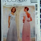 McCalls Pattern # 8836 UNCUT Misses Special Occasion Long Dress Size 10 12 14