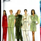 Simplicity Pattern # 9024 UNCUT Misses Pajama Top Bottom Robe Size XS Small Medium 6 8 10 12 14