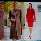 Butterick Pattern # 6262 UNCUT Misses Long Jacket Dress Size 14 16 18