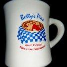 "Betty's Pies ""World Famous Pies"" Ceramic Coffee Mug Minnesota MN"