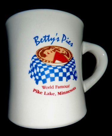 "Betty's Pies ""World Famous Pies"" Ceramic Coffee Mug Minnesota MN"