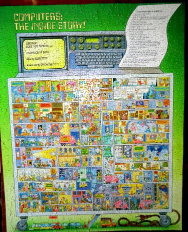 Vintage 1983 Springbok Puzzle COMPLETE Computers Inside Story PZL5936 24x30 Jigsaw