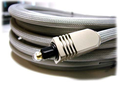 TOSLink Net-Jacket Premium Optical Audio Cable, 8mm, 6 ft. - $8.89