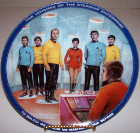 "Star Trek ""Beam Us Down Scotty"" 1983 Hamilton Collection Plate"
