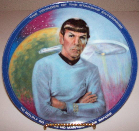 "Star Trek ""Mr. Spock"" 1983 Hamilton Collection Plate"
