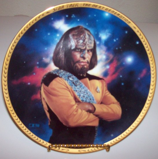"Star Trek Next Generation ""Lieutenant Worf"" 1993 Hamilton Collection Plate"