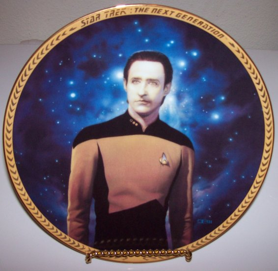 "Star Trek Next Generation ""Commander Data"" 1993 Hamilton Collection Plate"