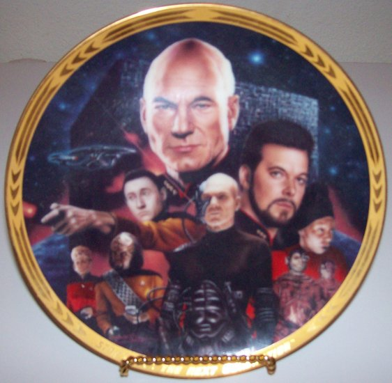 "Set of 2 Star Trek Next Generation ""Episodes"" 1994 Hamilton Collection Plates"
