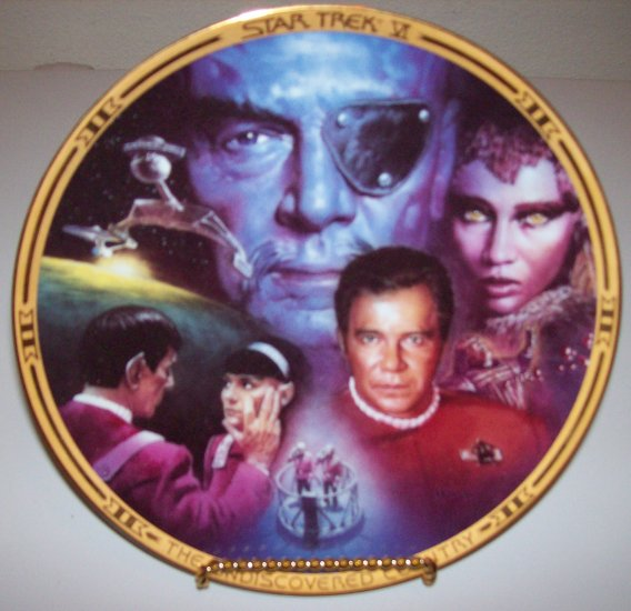 "Set of 2 Star Trek ""The Movies"" 1994 Hamilton Collection Plates"