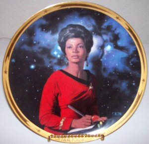 "Star Trek ""25th Anniversary Commemorative Collection-Uhura"" 1991 Hamilton Collection Plate"