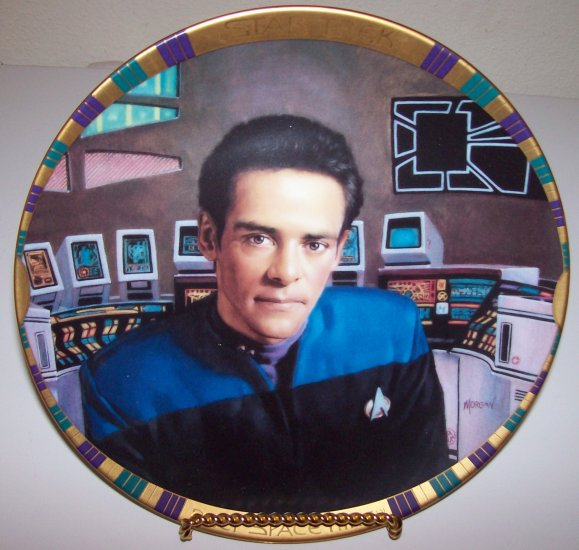 "Star Trek Deep Space Nine ""Dr. Julian Bashir"" 1994 Hamilton Collection Plate"