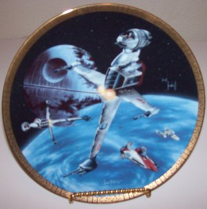 """Star Wars Space Vehicles """"B-Wing Fighter"""" 1995 Hamilton Collection Plate"""