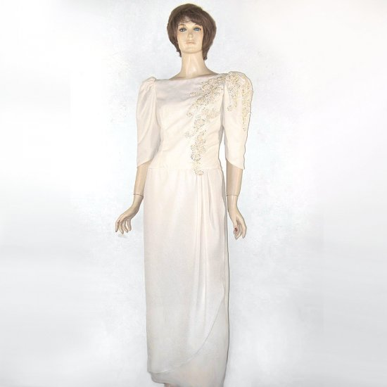 Alfred Angelo Sequin Ivory Bridal Wedding Gown Vintage