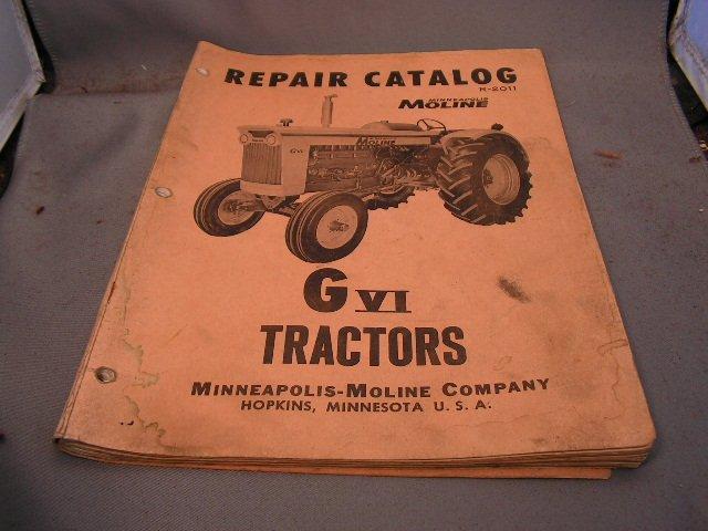 Minneapolis-Moline G VI Repair Catalog