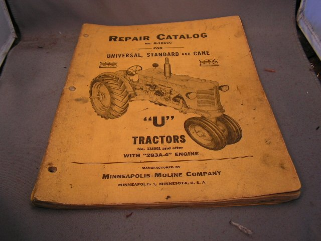 Minneapolis-Moline U Repair Catalog