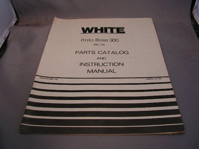 White Roto Boss 350 Parts Catalog and Instruction Manual.