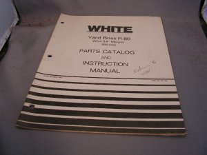 """White Yard Boss R80 with 34"""" Mower Parts Catalog and Instruction Manual"""