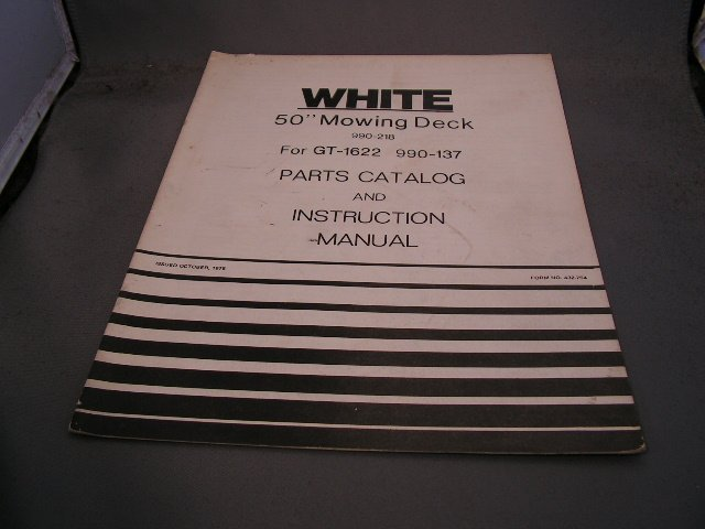 "White 50"" Mowing Deck Parts Catalog and Instruction Manual."