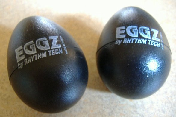 2 Black Rhythm Tech Egg Shakers EGGZ Buy Them Now! $5!