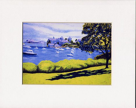 CAPE COD, Harwichport Seascape, Matted Print, Renee Rutana