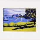 CAPE COD, Harwichport Seascape, Matted Print, Renee Rutana