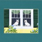 WESTIES West Highland Terrier dogs Matted Print, Renee Rutana