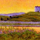 ACEO Print of Original Cape Truro House Dune Painting, Renee Rutana