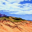 ACEO Print of Original Cape Cod Dune Wellfleet Painting, Renee Rutana