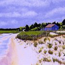 ACEO Print of Original Cape Cod Dune Painting, Renee Rutana