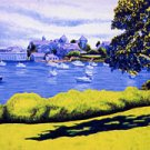ACEO Print of Original Cape Cod Boats Harwichport Harbor Painting, Renee Rutana