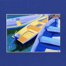 CAPE COD Rowboats, Dinghy, Skiff, Matted Print, Renee Rutana