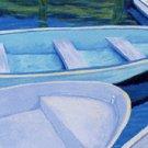 ACEO Print of Original Rowboats Painting, Renee Rutana