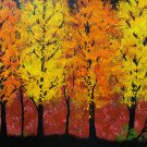 "AUTUMN TREE ART Original Landscape Painting, 11"" x 14"""