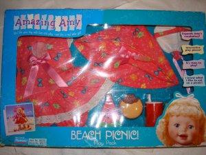 "Amazing Amy Doll ""Beach Pinic"" Play Pack MIB"
