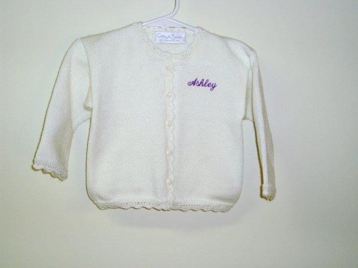 "Girls Boutique Knit Sweater Cardigan White ""Ashley"""