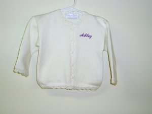 "Girls Boutique Knit Sweater Cardigan White ""Ashley"""