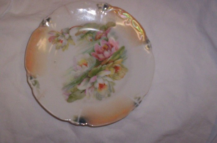 Flowered plate made in Leuchtenburg Germany