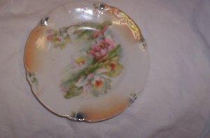 Flowered plate made in Leuchtenburg Germany