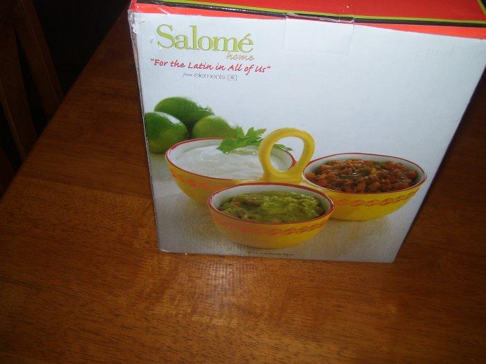 Salome-Latin-Three Part Condiment Server-NEW
