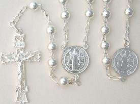 Sterling Silver St. Benedict Rosary