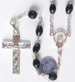 Cocoa Bead Sterling Silver Rosary