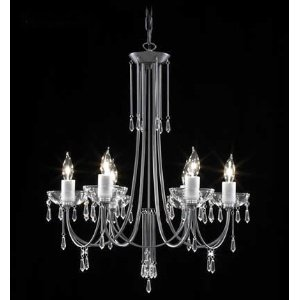 Crystal Italia Six Light Chandelier - James R. Moder